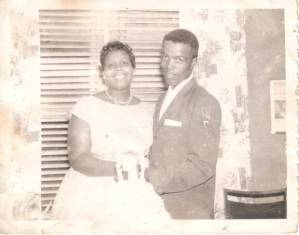 My uncle Sam and his bride Joyce on their wedding day (1960)